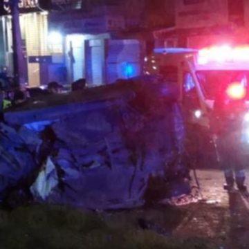 ACCIDENTE AUTOMOVILÍSTICO DEJA TRES MUERTOS  EN LA AVENIDA CENTRAL DE NEZAHUALCOYTL
