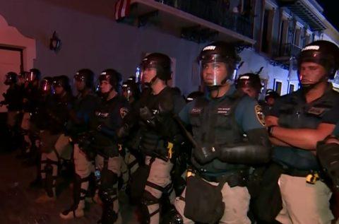 CONTINÚA LA TENSIÓN EN PUERTO RICO DESPUÉS DE LAS PROTESTAS DEL MIÉRCOLES